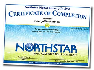 Home | Northstar Digital Literacy Assessment. Great online computer literacy assessments that upon successful completion of modules offers a certificate of knowledge.