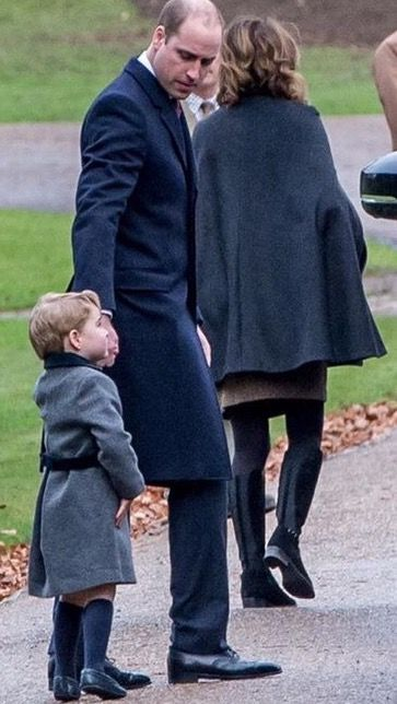 Christmas 2016 Prince William and son Prince George.