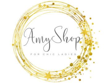 Photography logo Custom logo design gold wreath logo leafs