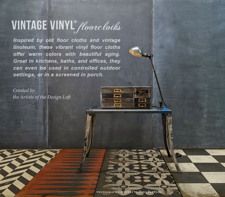 vintage vinyl floorcloths by the artists of the design