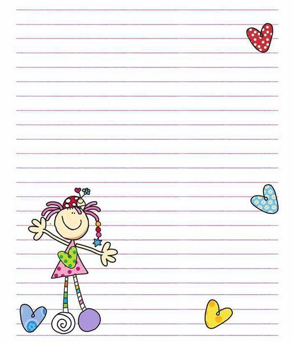 رسومات تزيين دفاتر المدرسة للبنات سهله وكيوت Writing Paper Printable Stationery Bullet Journal Lettering Ideas Writing Paper Printable