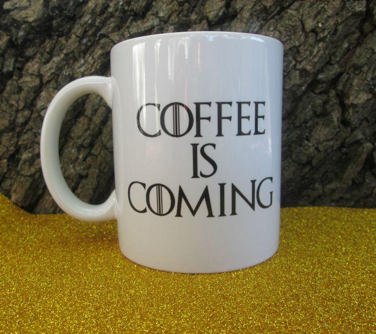 Coffee is coming mug R75