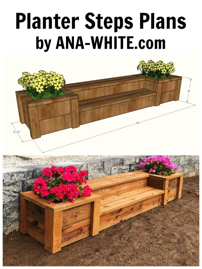 Outdoor Planter Steps Or Benches Outdoor Wood Projects Diy Outdoor Furniture Diy Planters Outdoor