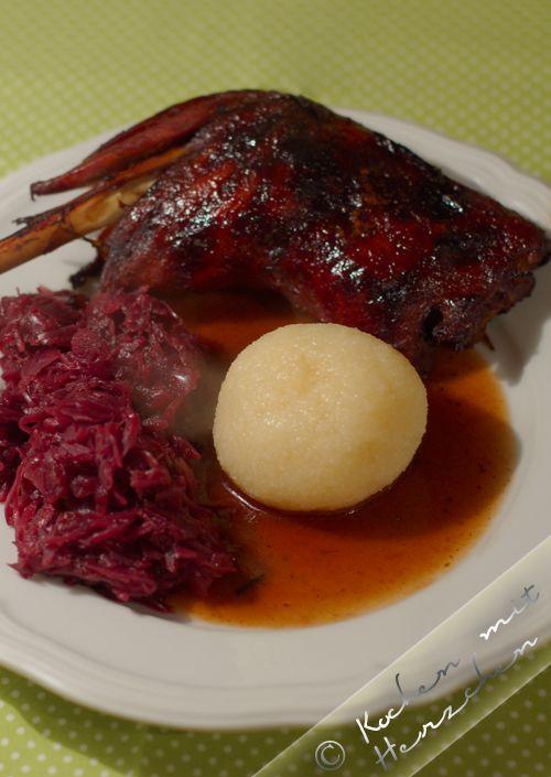 Kochen mit Herzchen - ♥ Mein Koch-Tagebuch mit viel Herz ♥: Gänsekeule am Martinstag