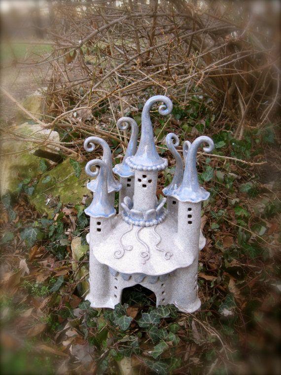 Fantasy Fairy Garden Castle by ClaySoul on Etsy