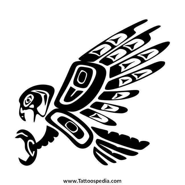Native american tribal eagle tattoo