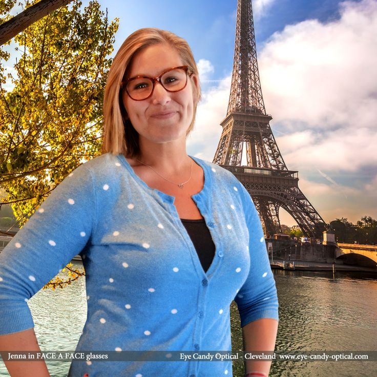 Inspired by her new French designer glasses by Face a Face, Jenna decided to see Paris and Eifel Tower face to face.  Eye Candy - there is nothing sexier than the Finest European Eyewear Fashion! Eye Candy Optical Cleveland - The Best Glasses Store! (440) 250-9191 - Book an Eye Exam Online or Over the Phone www.eye-candy-optical.com
