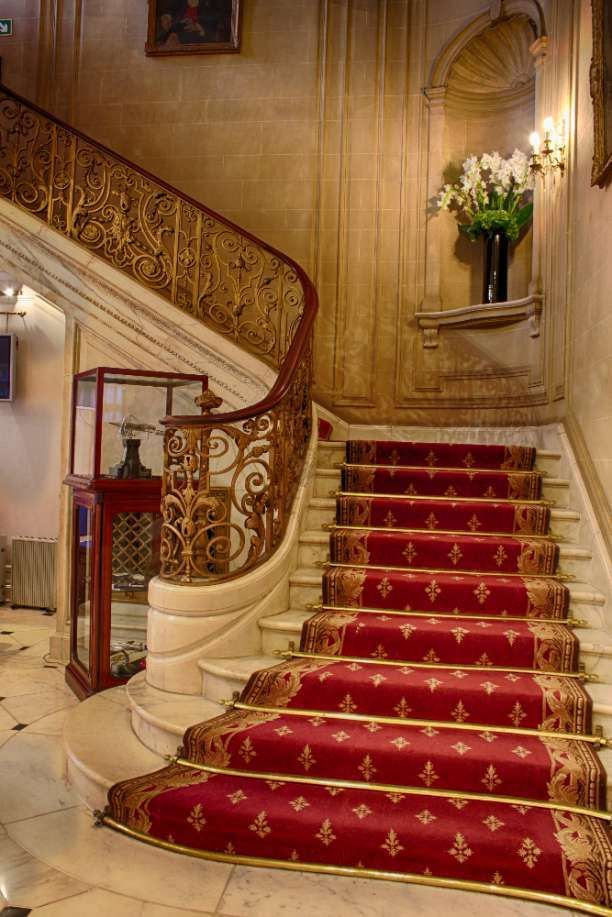Beautiful luxurious staircase in a historic building