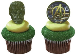 HULK MARVEL SQUAD HEROES CupCake Rings Decoration Party CAKE Avengers Birthday *