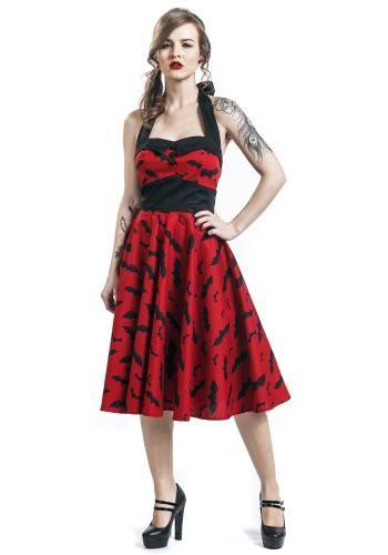 """Abito di media lunghezza """"Bat 50´s Dress"""" del brand #HellBunny."""