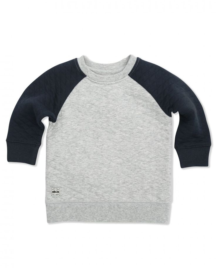 QUILTED PATCH SWEAT