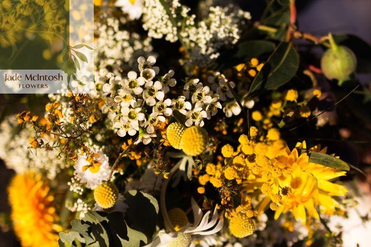 Texture, texture, texture. Yellow, yellow, yellow. Love, love, love. www.jademcintoshflowers.com.au www.somethingbluephotography.com.au