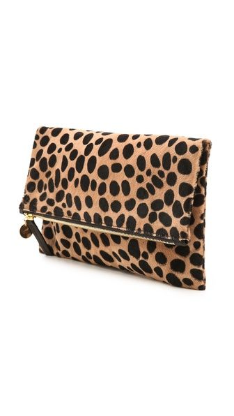 Clare V. Supreme Haircalf Fold Over Clutch.....I soooooooooo want this!!!!! This may be the only item on my Mother's Day wish list!!!