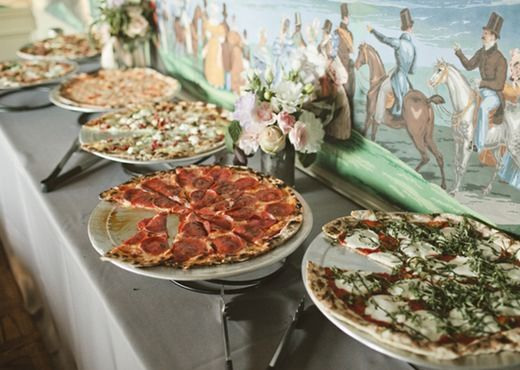 Pizza wedding- it was our first date after all:
