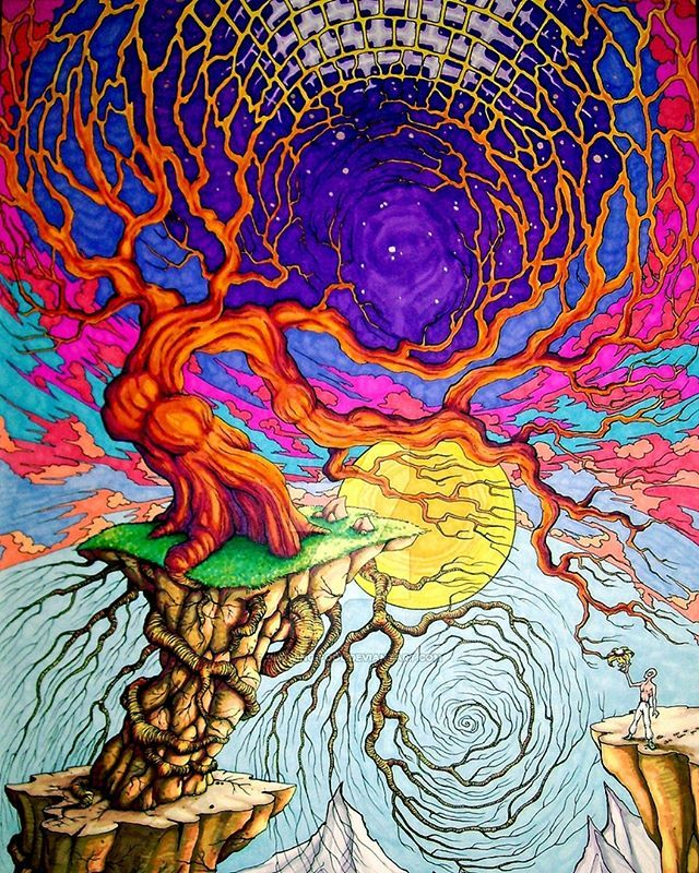 Journeys End By Glowing Fool Psychillart Abstract Psyart Surreal Art Psychedelic Trance Psytrance Drawing Insta Art Journal Backgrounds Abstract Art