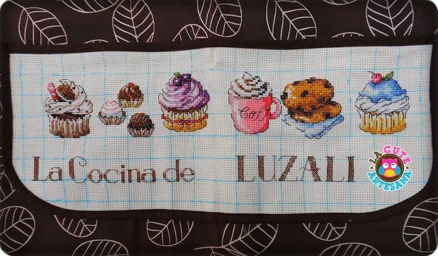 La Cute Artesana: Delantal con cupcakes para mi mamá