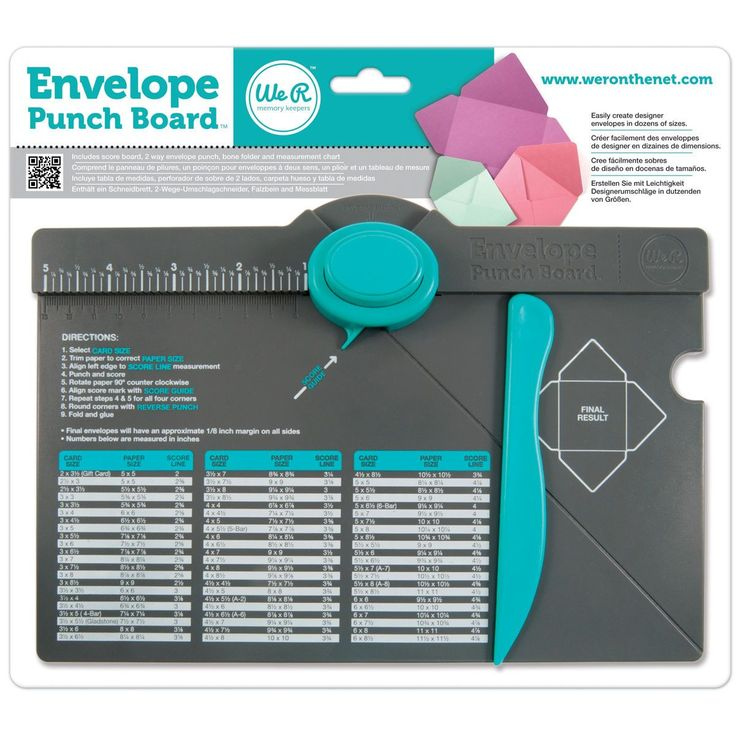 "Envelope Punch Board – 6.75 ""X10.5"""