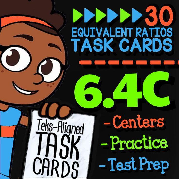 Math TEK 6.4C ★ Equivalent Ratios Word Problems ★ 6th