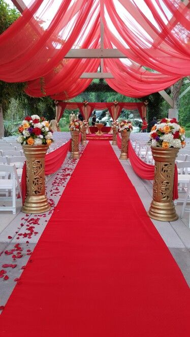 Indian wedding setup at Coyotes hills golf course, Fullerton by Sacheen's Decor
