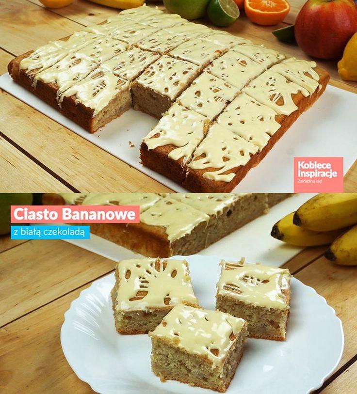 Ciasto bananowe z białą czekoladą