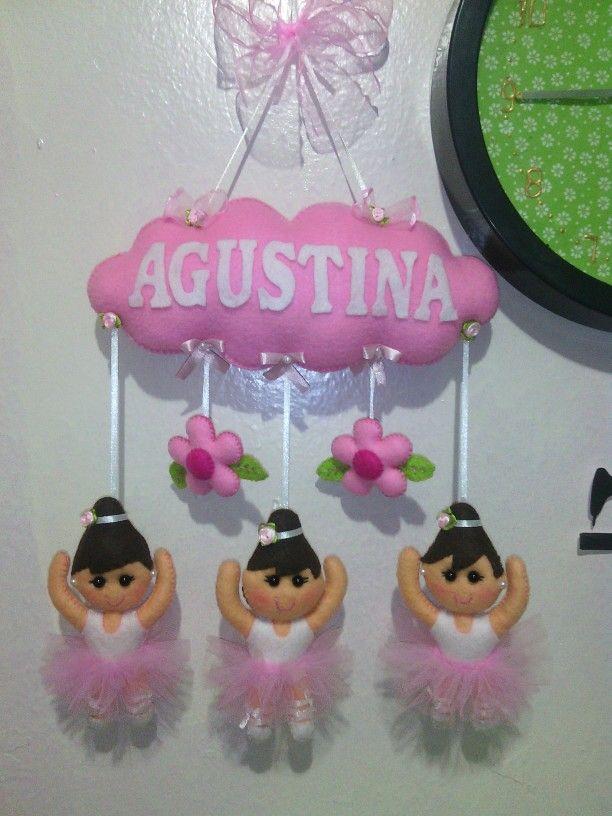Bailarinas en fieltro, decoración.