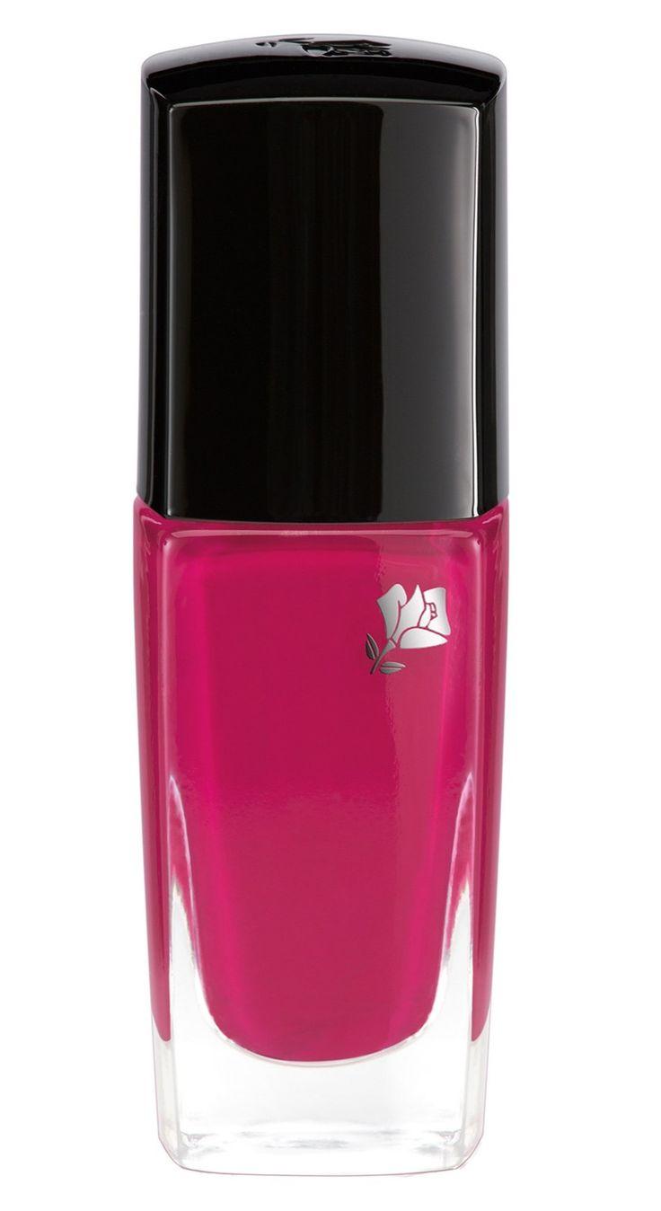 Pretty pink long wear nail polish.