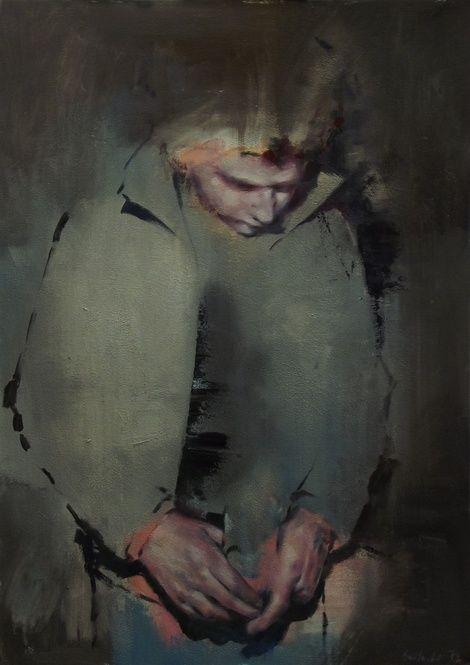 Szabolcs Szolnoki, Zombie democracy, 2013, 70x50cm, oil, acryl, canvas