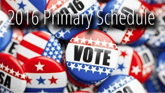 2016 Primary Schedule