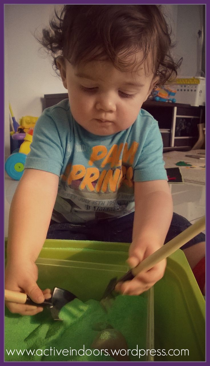 Montessori inspired sand play at home