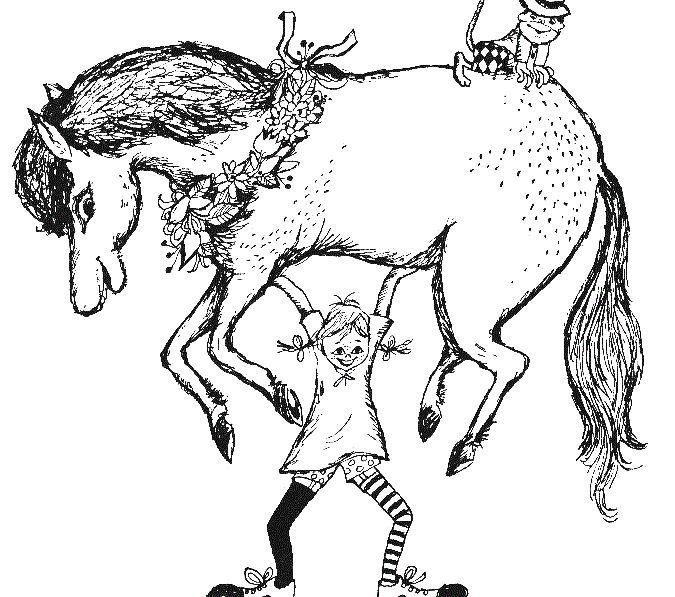 003 Pippi Langstrumpf Stemmt Pferd U