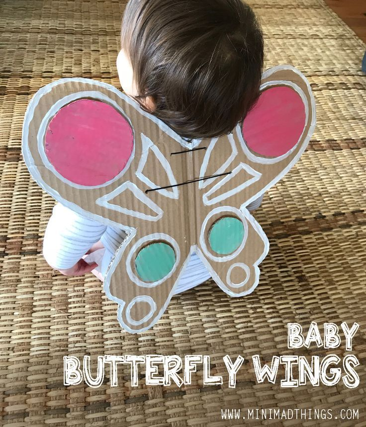 Make Your Own Recycled Cardboard Baby Butterfly Wings Together With Your Kids Butterfly Wings Diy Halloween Costumes For Kids Diy Kids Toys