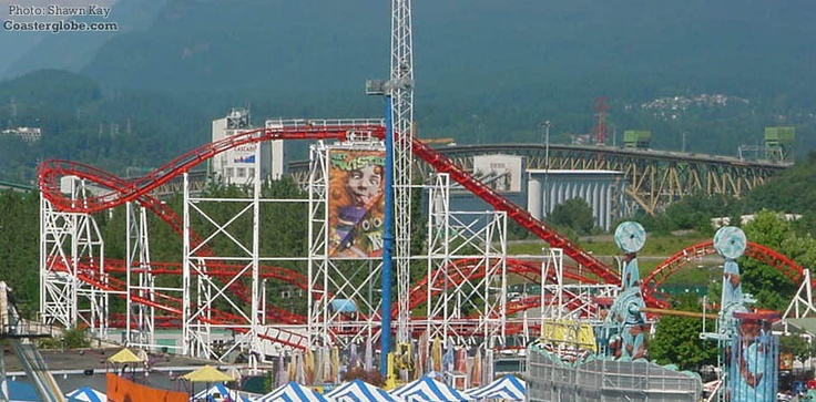 Corkscrew, Playland at the PNE, Vancouver, BC. I remember my first ride on this. So much fun!