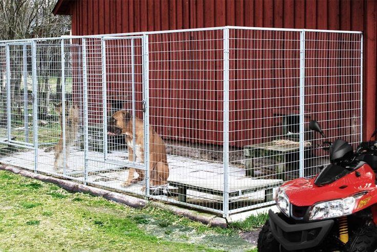 Hundegård med 2 indhegninger