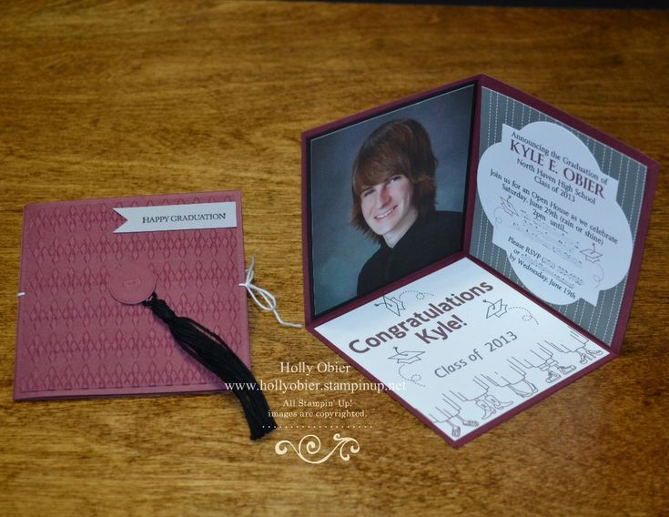 high school graduation invitations that i made for my son love this 3 d - Diy Graduation Invitations