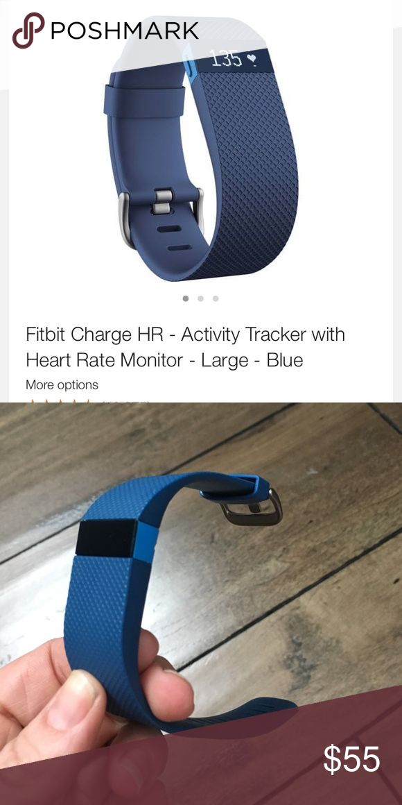 Brand new Fitbit HR size small Never worn! Brand new Fitbit Hr. Blue size small. I have the charger that will come with it. Retails for $100!! fitbit Accessories Watches