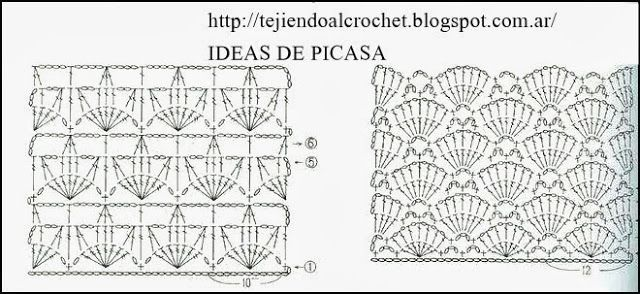 PATRONES - CROCHET - GANCHILLO - GRAFICOS: POINTS crocheting with their employers