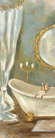 Vintage Bath Art Print by Silvia Vassileva