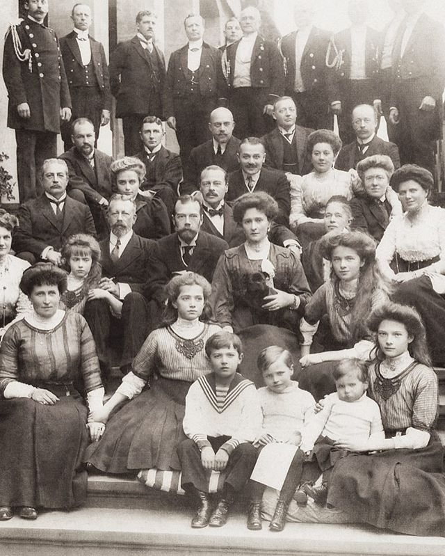 The Romanov family with their Hessian and German royal relatives, at Wolfsgarten, 1910 by historyofromanovs from Instagram
