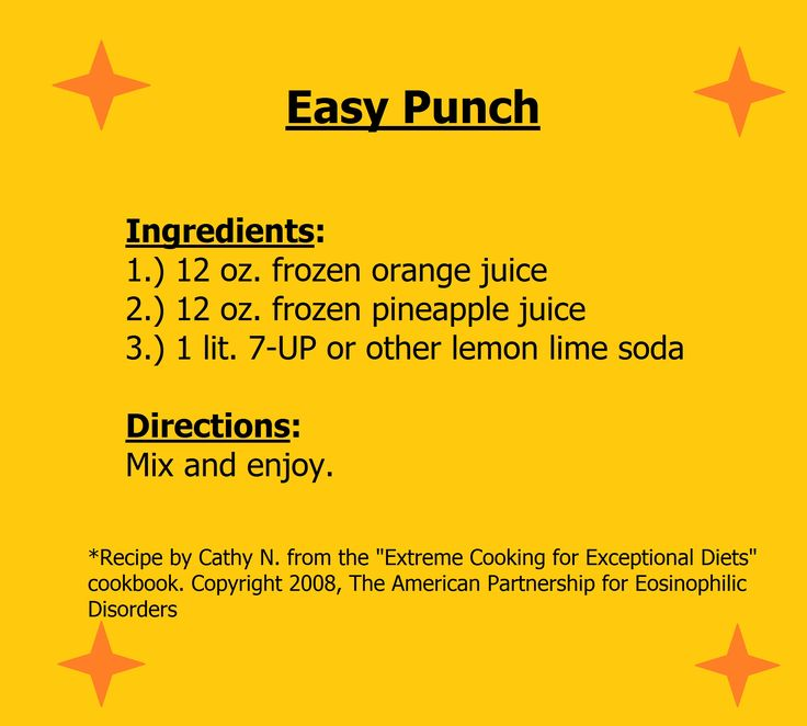 An easy punch recipe for the holidays. Please review all ingredients with care.