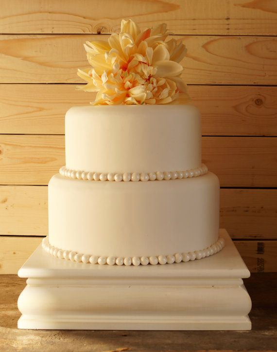 16 Inch White Cake Stand White Square Cake by RitaMarieWeddings