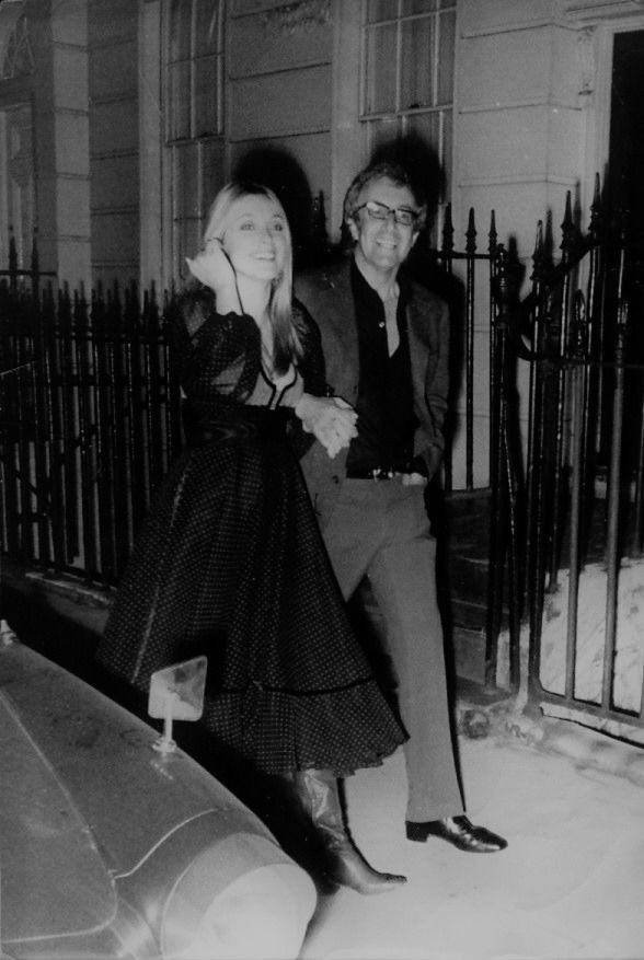 Sharon Tate and Peter Sellers attending a party for Peter Lawford in London