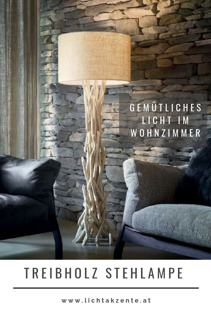 Ideal Lux Holz Stehleuchte Driftwood | Stehlampe holz