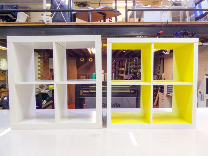 Kallax IKEA Hack In Neon Yellow By Panyl. Ikea BookcaseIkea ExpeditIkea ...
