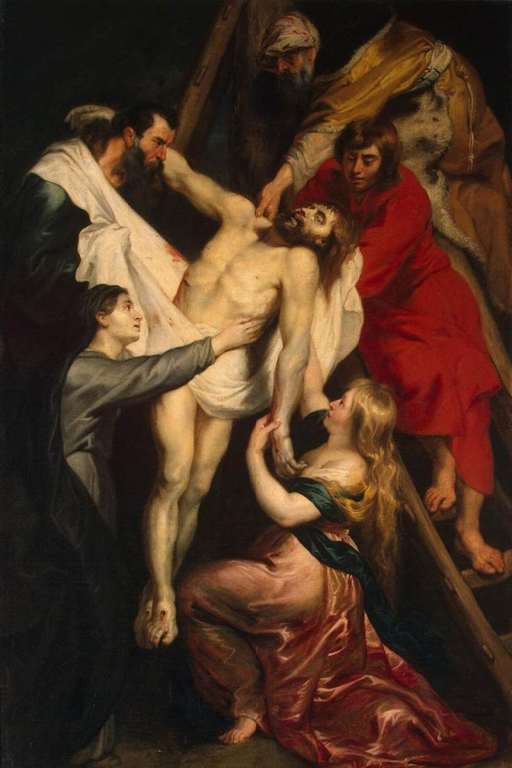 The Descent from the Cross by Peter Paul Rubens {c.1617-18} ~ Jesus