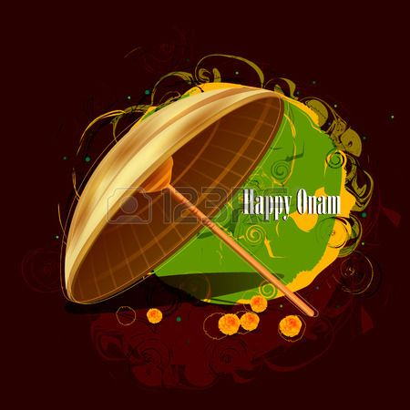 easy to edit vector illustration of Happy Onam holiday for South India festival background Stock Vector