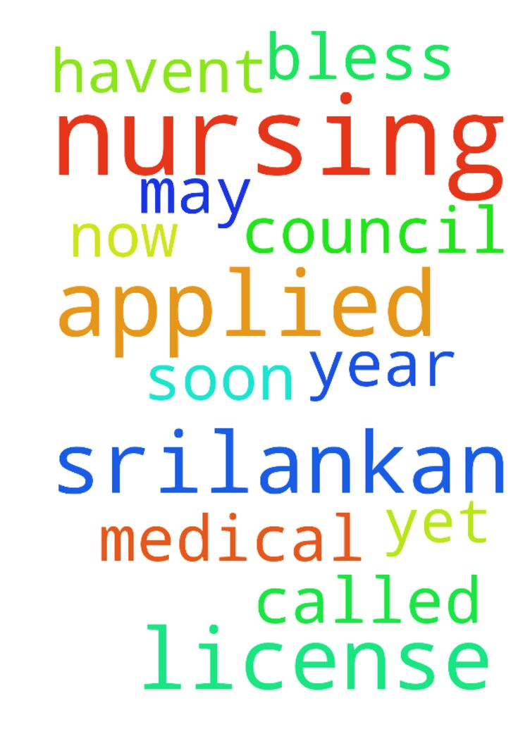 Please pray for me. I have applied for srilankan nursing - Please pray for me. I have applied for srilankan nursing license. From the medical council. Its been a year now they havent called me yet. Please pray for me that I may get my nursing license soon. God bless all of you. Posted at: https://prayerrequest.com/t/xZE #pray #prayer #request #prayerrequest