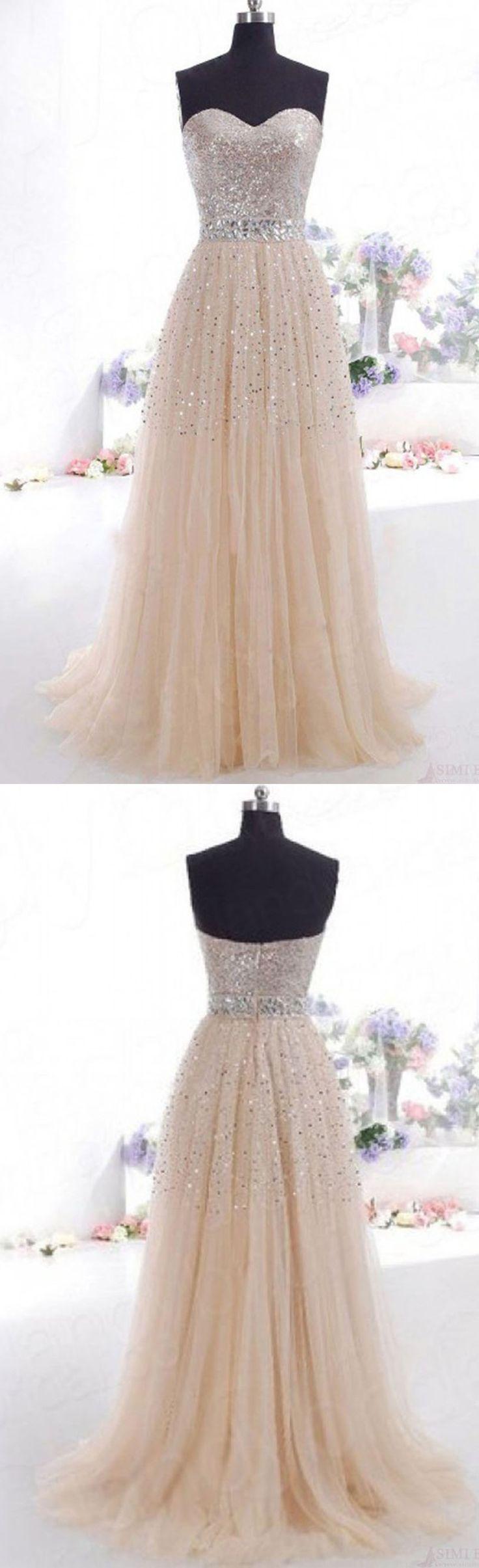 Fabulous A-Line Sweetheart Natural Floor Length Champagene Sleeveless Zipper Prom Evening Dress