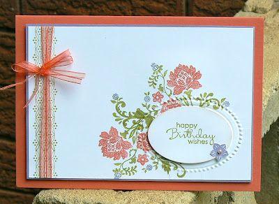 card: Card Idea, Kb Papercraft, Su Fresh, Cute Card, Vintage Card, Vintage Stamps, Card Stampin, Fresh Vintage, Design Frames Stampin Up
