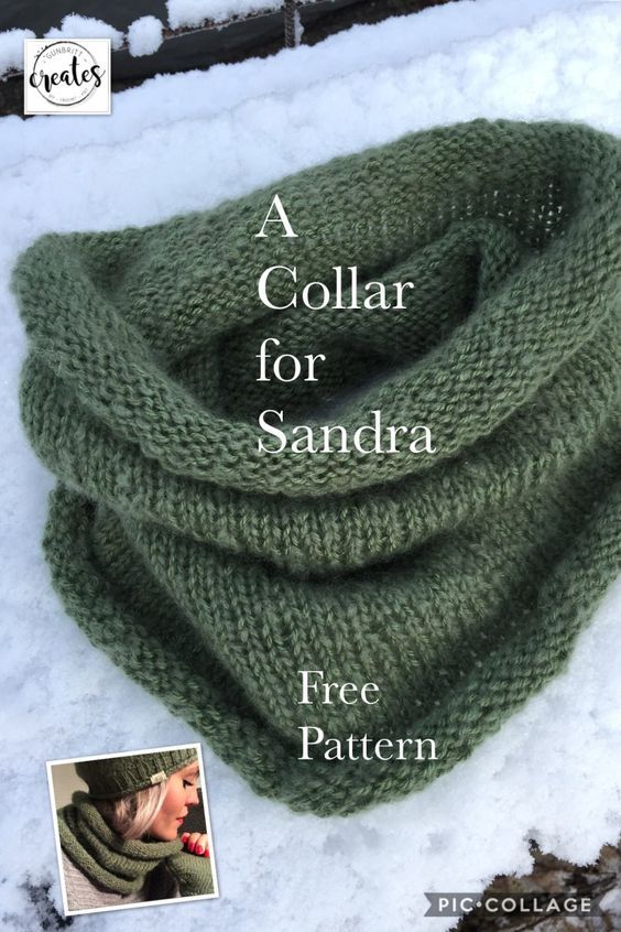 A Collar For Sandra Knitting Patterns Cowl Scarf And Free Pattern