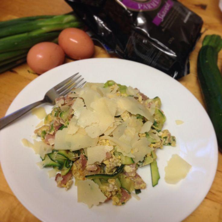 Supper yum zucchini noodle carbonara. #fixingwithfood #iqs #paleo #fodmaps #glutenfree #lowfodmap #wellness